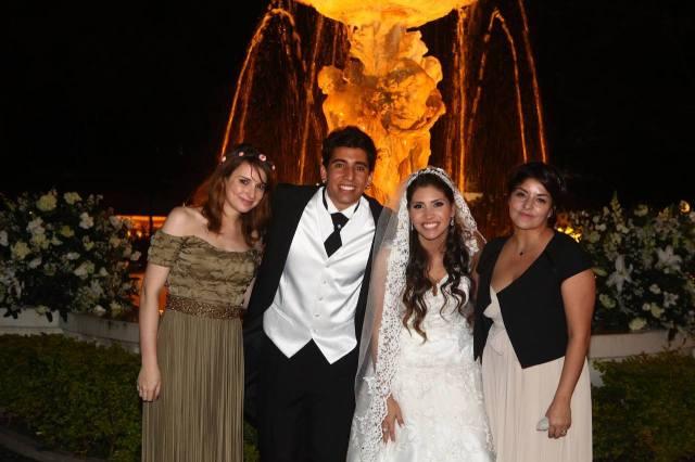 Com os noivos Bruno e Bruna