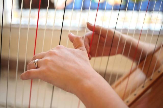 A harpista Soledad Yaya